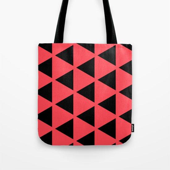 Sleyer Black on Pink Pattern Tote Bag