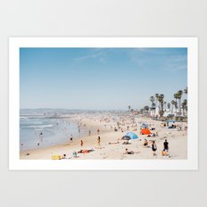 San Diego Beach Art Print