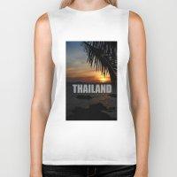 thailand Biker Tanks featuring Thailand by Ciaran Mcg