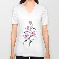 botanical V-neck T-shirts featuring Botanical Illustration  by Sobottastudies