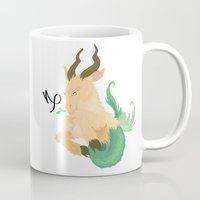 capricorn Mugs featuring Capricorn by Rejdzy