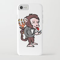 black butler iPhone & iPod Cases featuring monkey butler  mono mayordomo by gran mike