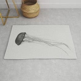 Black & White Jellyfish Rug