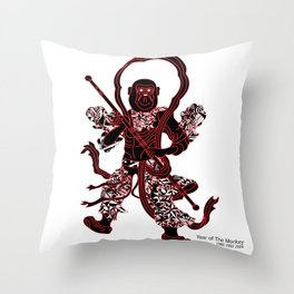 Chinese zodiac sign, Year of the Monkey Throw Pillow