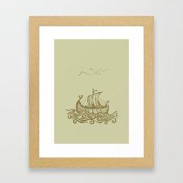 Viking ship Framed Art Print