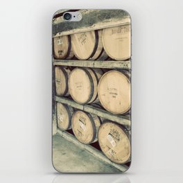 Kentucky Bourbon Barrels Color Photo iPhone Skin
