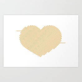Heart Circuit Art Print