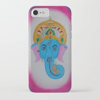 ganesh iPhone & iPod Cases featuring Ganesh by Pixie Willow Art Designs