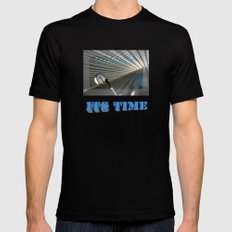 Time Revisited Black Mens Fitted Tee MEDIUM