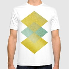 Remember Summer MEDIUM White Mens Fitted Tee