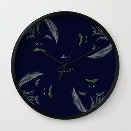 Where is my mind in darkness Wall Clock