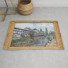 Alfred Sisley - Le moulin a eau Provencher a Moret Rug
