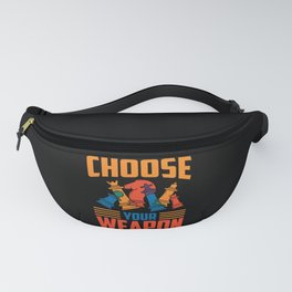 Choose Your Weapon Chess Board Game Player Fanny Pack