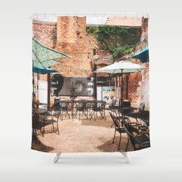 NOLA Dining Courtyard Shower Curtain