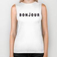bonjour Biker Tanks featuring Bonjour by Galaxy Eyes