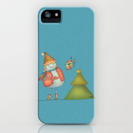 Friends keep warm iPhone Case