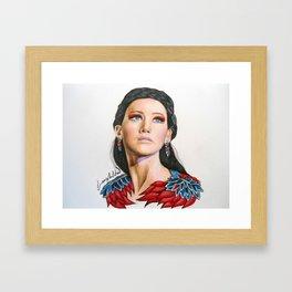 Katniss Everdeen in Amazing Colors Framed Art Print