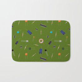 Circuit Elements - Green Bath Mat