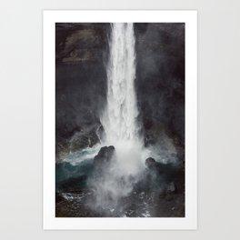 Háifoss Art Print