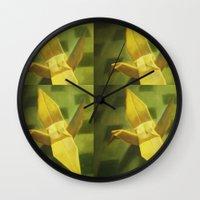 crane Wall Clocks featuring Crane by Hugo F G