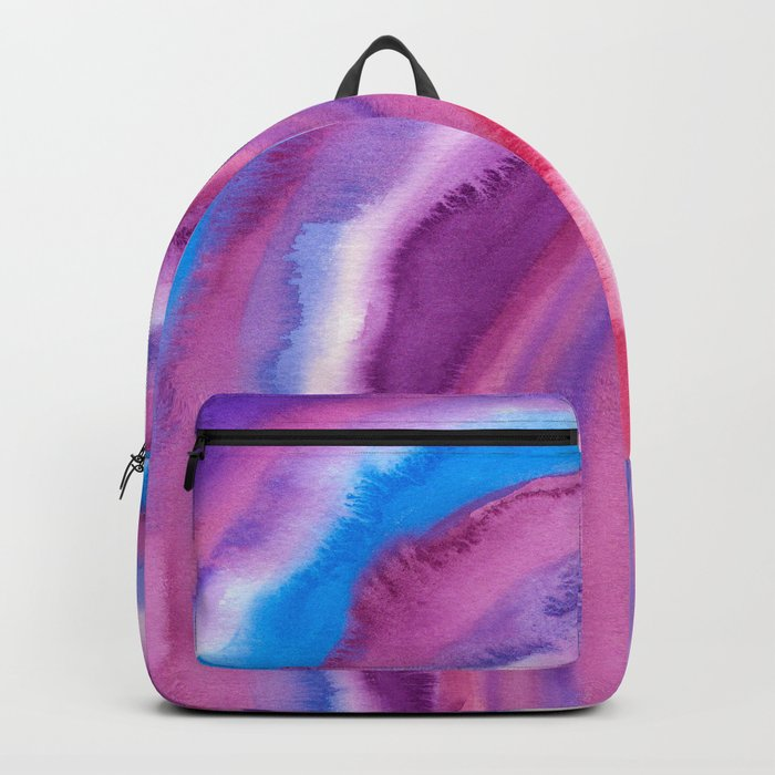 AGATE Inspired Watercolor Abstract 09 Backpack