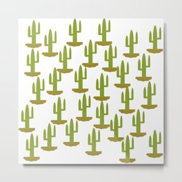 Cactus 1, Design, Vector Metal Print