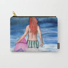 Red Haired Surfer Girl Carry-All Pouch