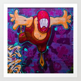 Luchador Graffiti Art Art Print