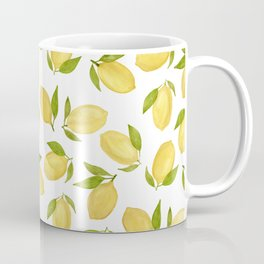 Watercolor lemon pattern Coffee Mug
