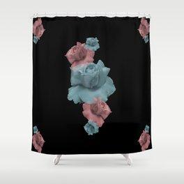 Glitch Roses Shower Curtain