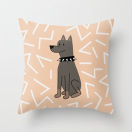 The Doberman Throw Pillow