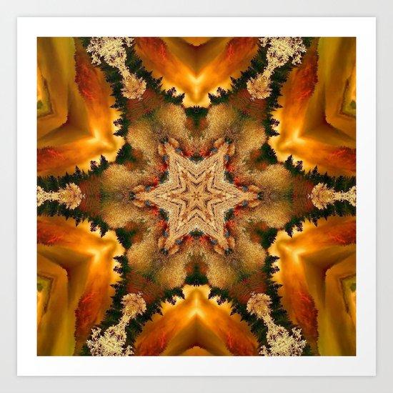 Autumn Star Mandala Art Print