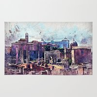rome Area & Throw Rugs featuring Rome by jbjart