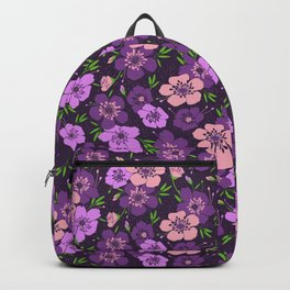 Violet flower pattern Backpack