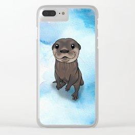 Otter Cuteness Clear iPhone Case