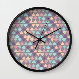 Small Pastel Triangles Wall Clock