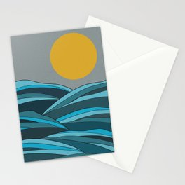 The ocean, waves and sun Stationery Cards