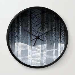 Cold Wave Wall Clock