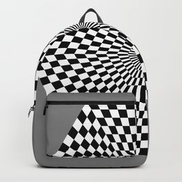 Checkered Hexagon Backpack