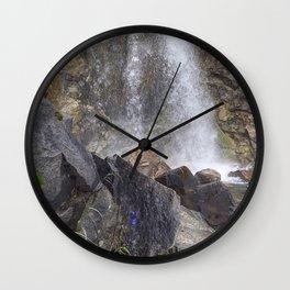 White Pass Waterfall Wall Clock