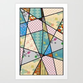 Mixed Pattern Abstract Art Art Print
