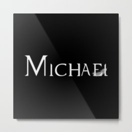 Archangel Michael with Feather Metal Print