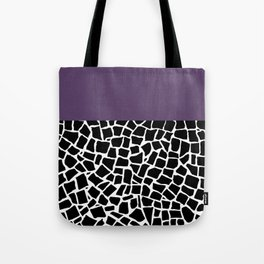 British Mosaic Purple Boarder Tote Bag