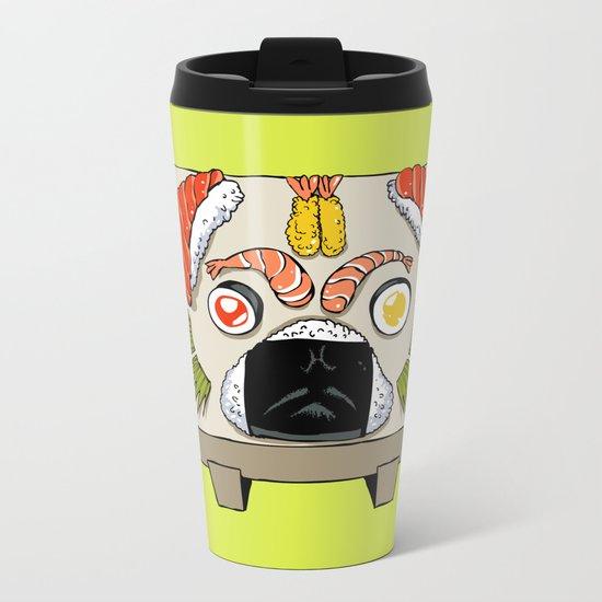 Pug Sushi Metal Travel Mug