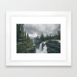 Landscape Athabasca Falls Christmas Framed Art Print