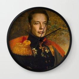 Elon Musk, Classical Painting as General, Regal art Wall Clock
