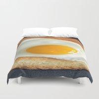 breakfast Duvet Covers featuring Breakfast by Asano Kitamura