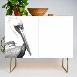 Black and White Pelican Credenza