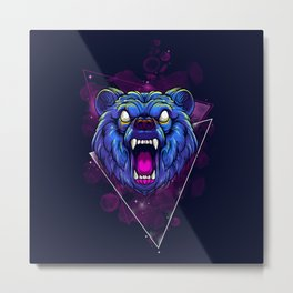 Frenzy Bear Metal Print