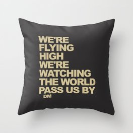 We are flying high | Aviation gift Throw Pillow